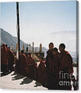 Tibetan Monks 2 Canvas Print