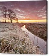 Tickenham Dawn Canvas Print