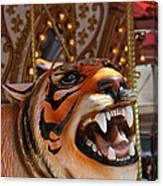 Tiger Merry Go Round Animal Canvas Print