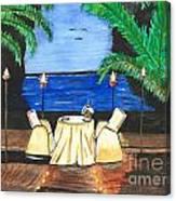 Tiki Light Dining Canvas Print