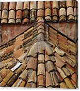 Tile Roof In Croatia Canvas Print