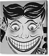 Tillie The Clown Of Coney Island In Black And White Canvas Print