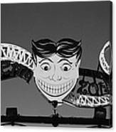 Tillie's Scream Zone In Black And White Canvas Print