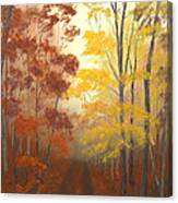 Timber Road Canvas Print