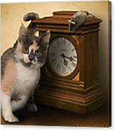 Time For Cat And Mouse Canvas Print