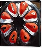 Orange And Black Art -time - Sharon Cummings Canvas Print