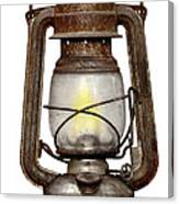 Time Worn Kerosene Lamp Canvas Print