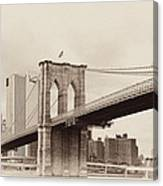 Timeless-brooklyn Bridge Canvas Print