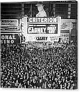 Times Square Election Crowds Canvas Print