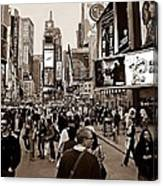 Times Square New York S Canvas Print