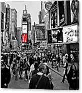 Times Square New York Toc Canvas Print