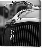 Timmis-ford V8 Greyhound Hood Ornament Canvas Print