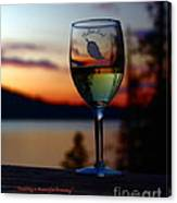 Toasting A Beautiful Evening Canvas Print