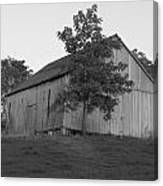 Tobacco Barn II In Black And White Canvas Print