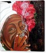 Tobacco Lady Canvas Print