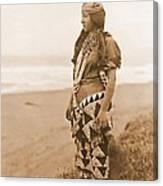 Tolowa Womans Primitive Dress Canvas Print