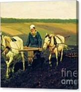 Tolstoy In The Ploughland Canvas Print