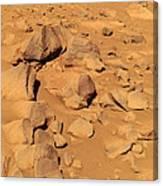 Toltecs, Volcanic Rocks, Mars Canvas Print