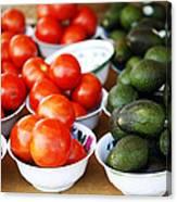 Tomato Y Avacado Canvas Print