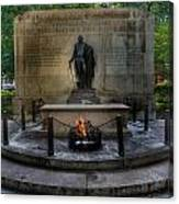 Tomb Of The Unknown Revolutionary War Soldier II - George Washington  Canvas Print