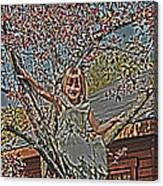 Tomboy In The Tree Canvas Print