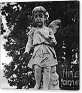 Tombstone Angel Bw Canvas Print