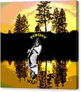 Amber Lake #3 Canvas Print