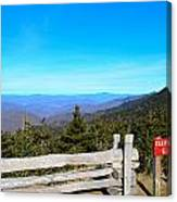 Top Of The Mountain In North Carolina Canvas Print