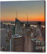 Top Of The Rock Sunset II Canvas Print
