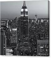 Top Of The Rock Twilight Vi Canvas Print