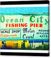 Topsail Island Old Sign Canvas Print