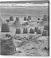 Topsail Island Sandcastle Canvas Print