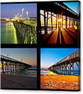 Topsail Piers At Sunrise Canvas Print
