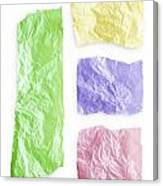 Torn Colorful Paper Canvas Print