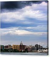Tornado Over The Capitol Canvas Print