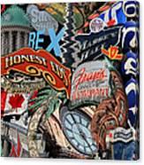 Toronto Pop Art Montage Canvas Print