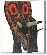 Torosaurus Dinosaur Canvas Print