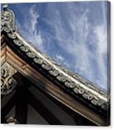 Toshodai-ji Temple Roof Gargoyle - Nara Japan Canvas Print