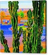 Totem Cactus Canvas Print