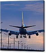 Touchdown In Sunset Palette Canvas Print