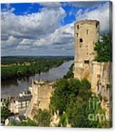 Tour Du Moulin And The Loire River Canvas Print