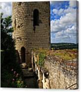 Tour Du Moulin At Chateau Chinon Canvas Print