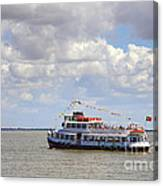 Touring Boat Canvas Print