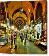 Tourists At The Grand Bazaar Canvas Print