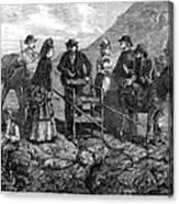 Tourists At Vesuvius, 1872 Canvas Print
