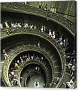 Tourists Descend The Double Spiral Canvas Print