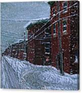 Tourville En Hiver Canvas Print