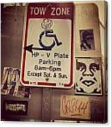Tow Zone Collage Canvas Print