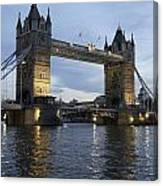 Tower Bridge And River Thames At Dusk Canvas Print