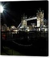 Tower Bridge And Riverside Night View  Canvas Print